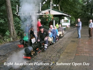 Right Away from platform 2 - Summer Open day.