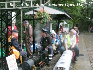Summer Open day - Busy at the Station.