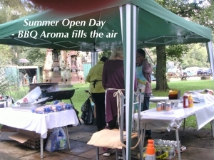 Summer Open day - Barbecue aroma fills the air.