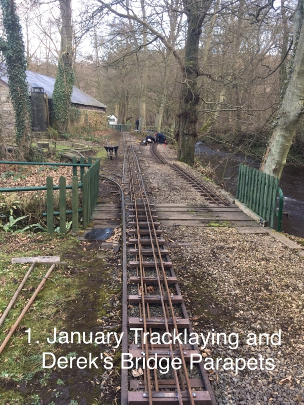 January Track Laying and Derek's bridge Parapets.
