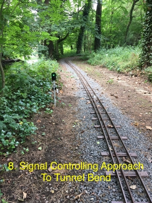 Signal Controlling Approach to Tunnel bend.