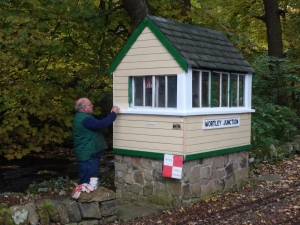 Graham completes the signal box face lift.