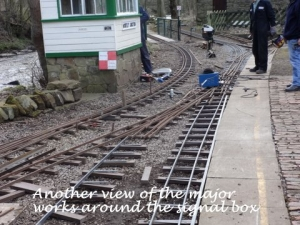 Another view of the major works round the signal box.