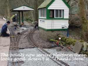The points now serve platform 3, looks good doesn't it! Thanks Steve.