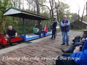 Filming the ride around the forge.
