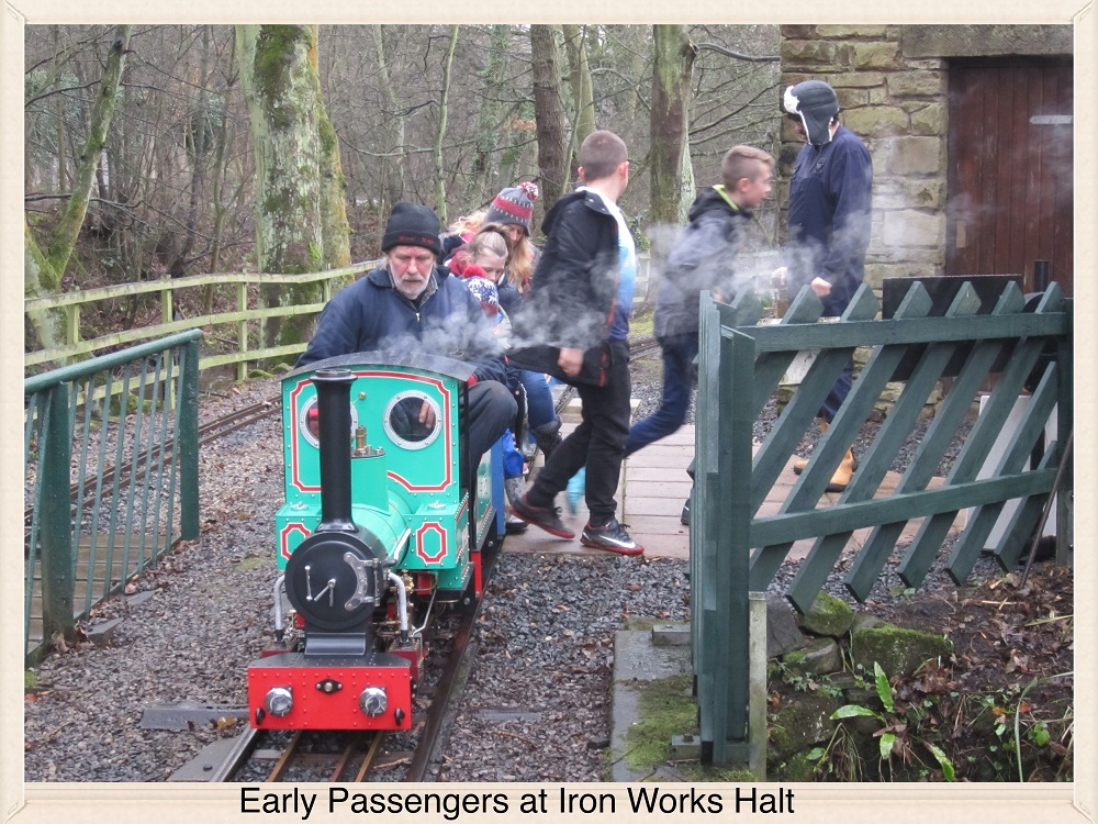 Early Passengers at Iron Works Halt