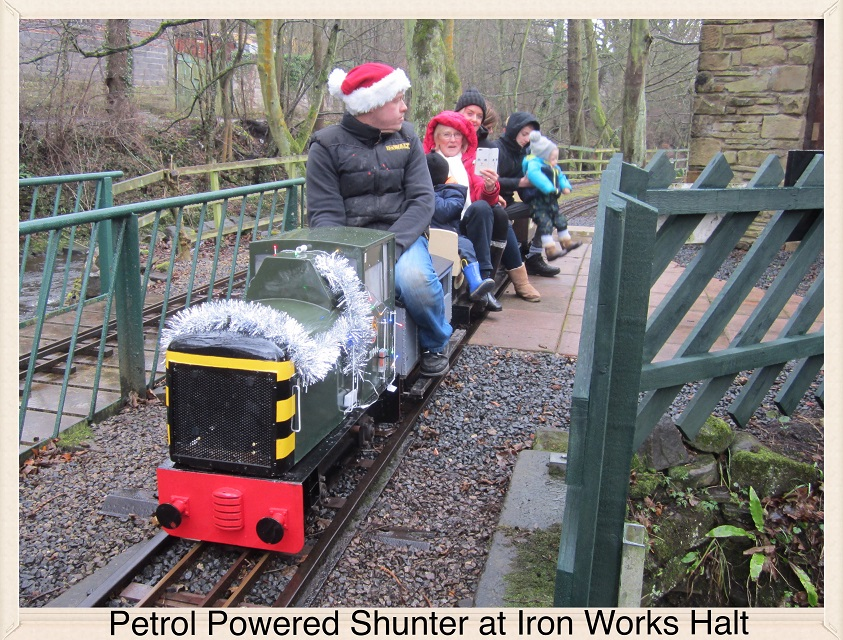 Petrol Powered Shunter at Iron Works Halt