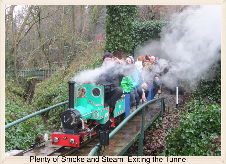 Plenty of Smoke and Steam Exiting the Tunnel.