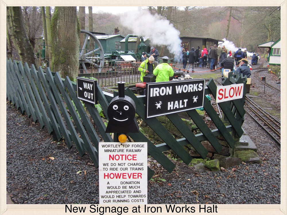 New Signage at Iron Works Halt