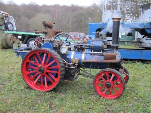 Traction engine has full head of steam.