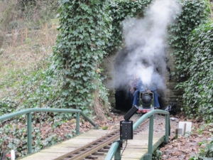 A steamy exit from the tunnel.