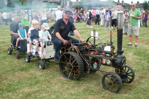 The traction engine proved a huge hit at Bolsterstone gala