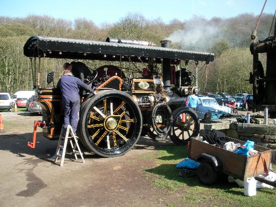 The Fowler showman's engine makes its maiden appearance at Top Forge